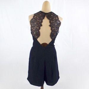 9ac8194a 19 Cooper Pants | Lace Back Halter Romper M | Poshmark